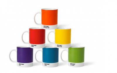 Pantone Porzellan-BECHER-Sets in 3 Farbenkombinationen