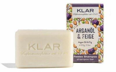 KLAR's festes Shampoo Arganöl/Feige 100g (für trockenes Haar)