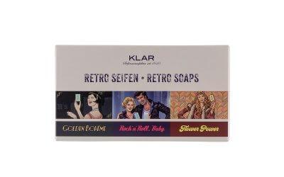 Klar's 3er Retro-Seifen-Set palmölfrei