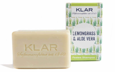 KLAR's festes Shampoo Lemongrass/Aloe Vera
