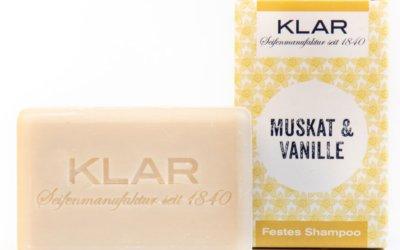 KLAR'S festes Shampoo Muskat/Vanille