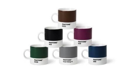 Pantone Porzellan-ESPRESSOTASSEN-Sets in 3 Farbenkombinationen