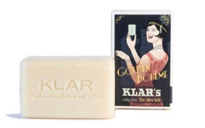 KLAR's 20-er Retro Seife Golden Bohème palmölfrei