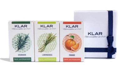 KLAR'S Geschenkset Ätherische Öle palmölfrei
