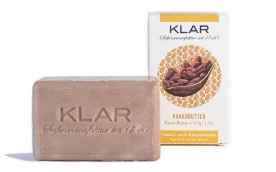 KLAR's Kakaobutterseife 100g, palmölfrei