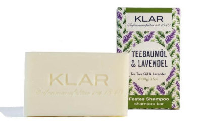 KLAR's festes Shampoo Teebaumöl/Lavendel 100g (für schuppiges Haar)