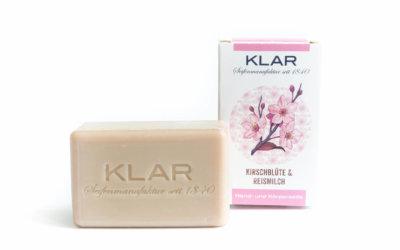 KLAR's Kirschblüte & Reismilchseife palmölfrei